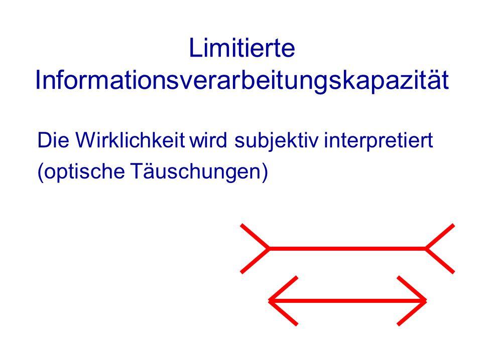Limitierte Informationsverarbeitungskapazität