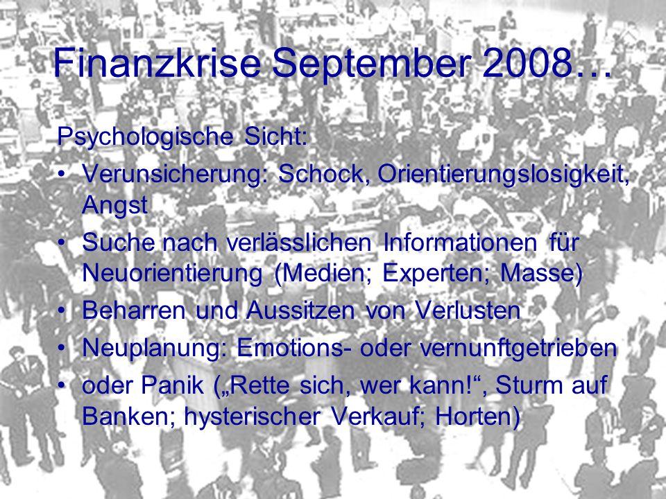 Finanzkrise September 2008…
