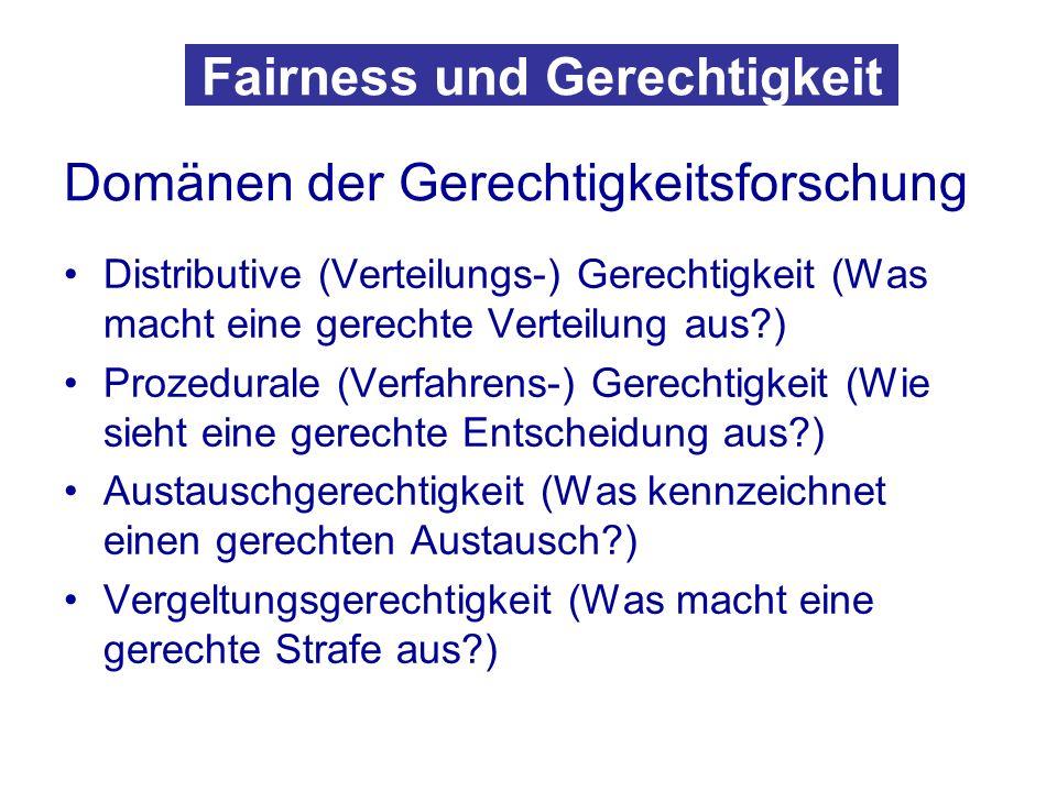 Fairness und Gerechtigkeit