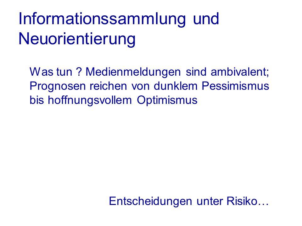 Informationssammlung und Neuorientierung