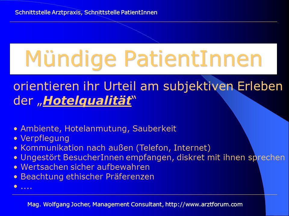 Mag. Wolfgang Jocher, Management Consultant, http://www.arztforum.com