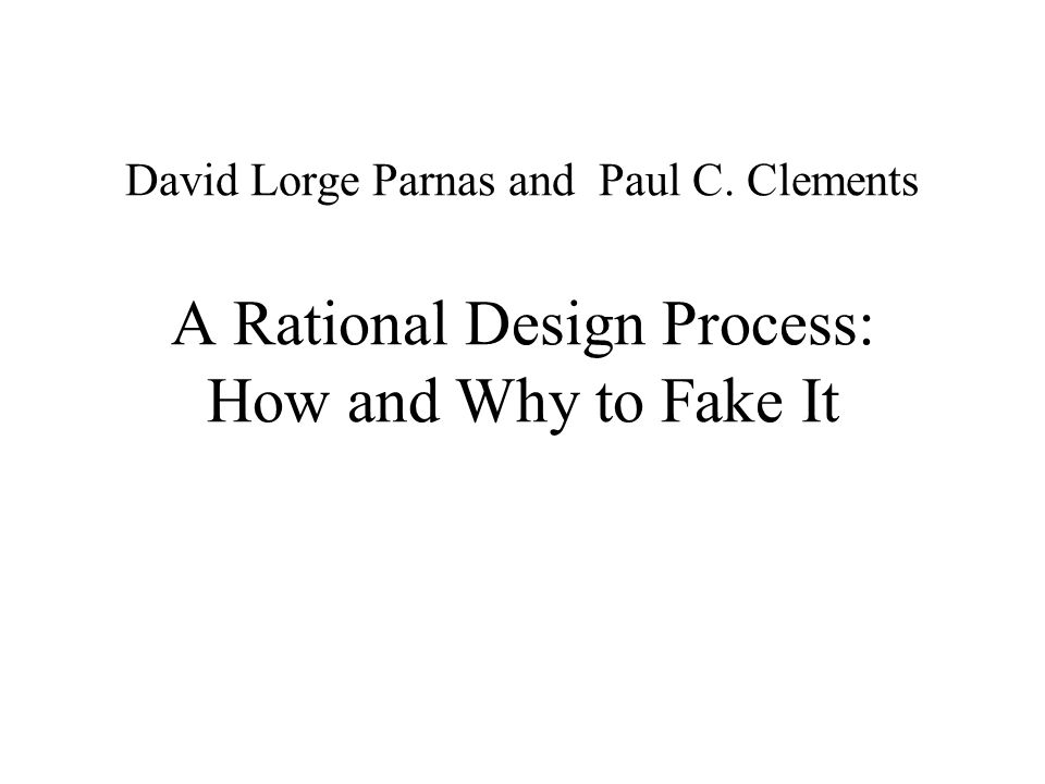 David Lorge Parnas and Paul C