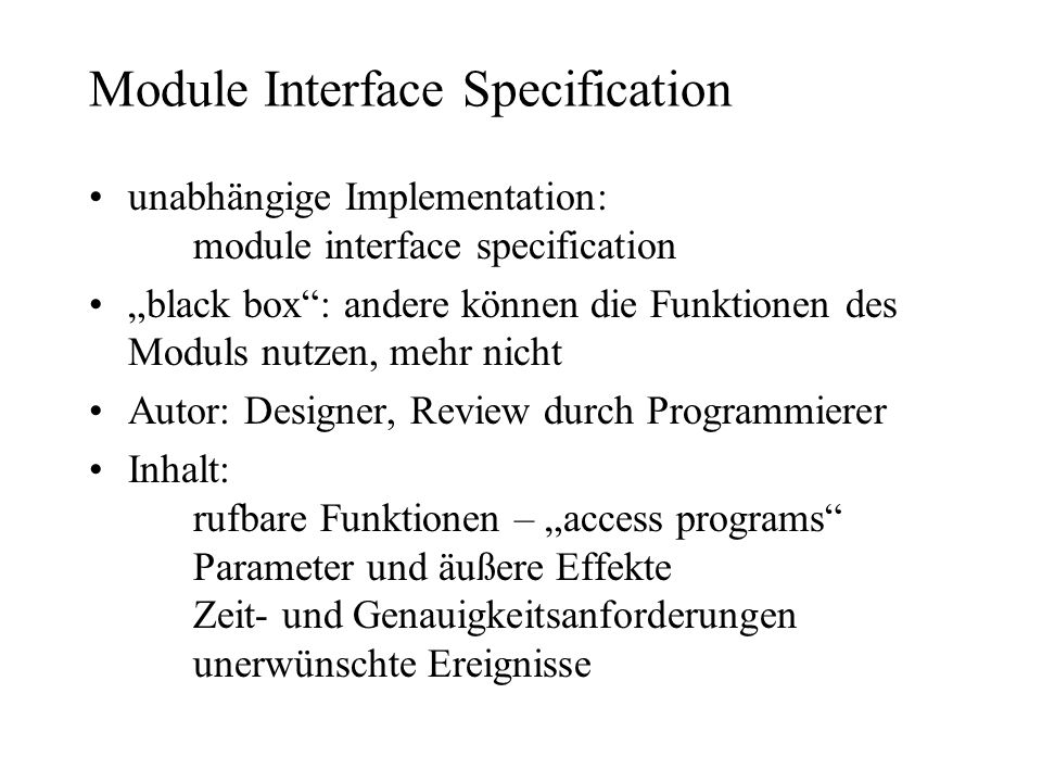 Module Interface Specification
