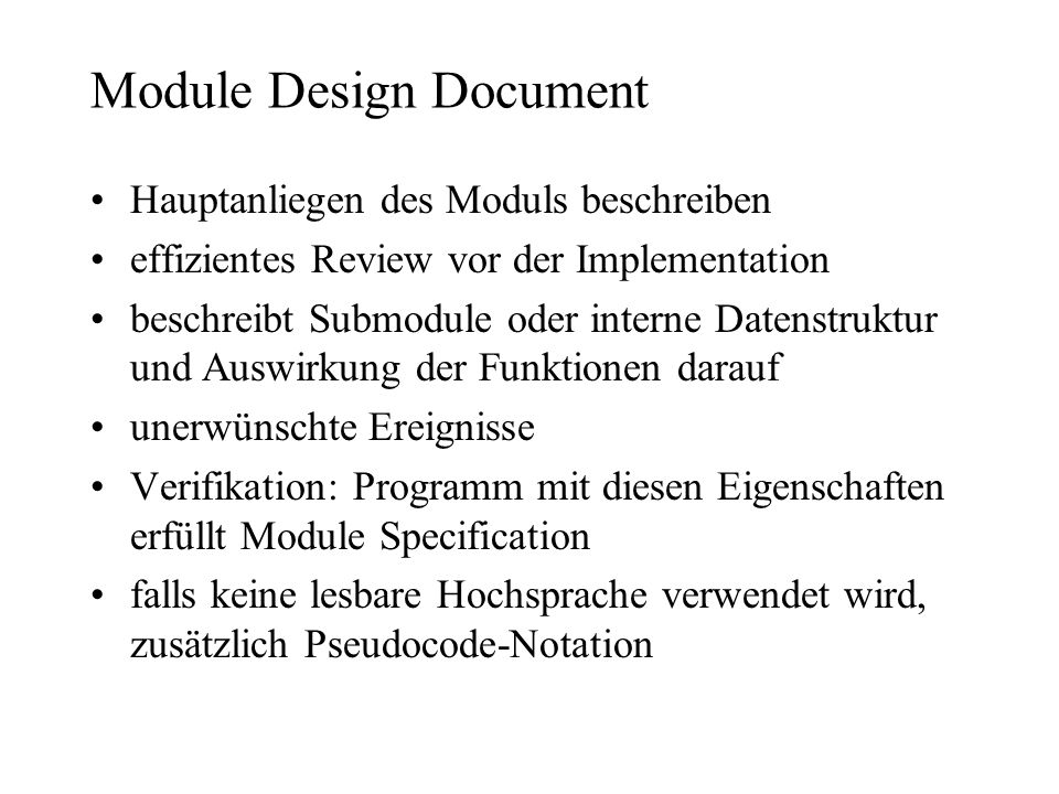Module Design Document