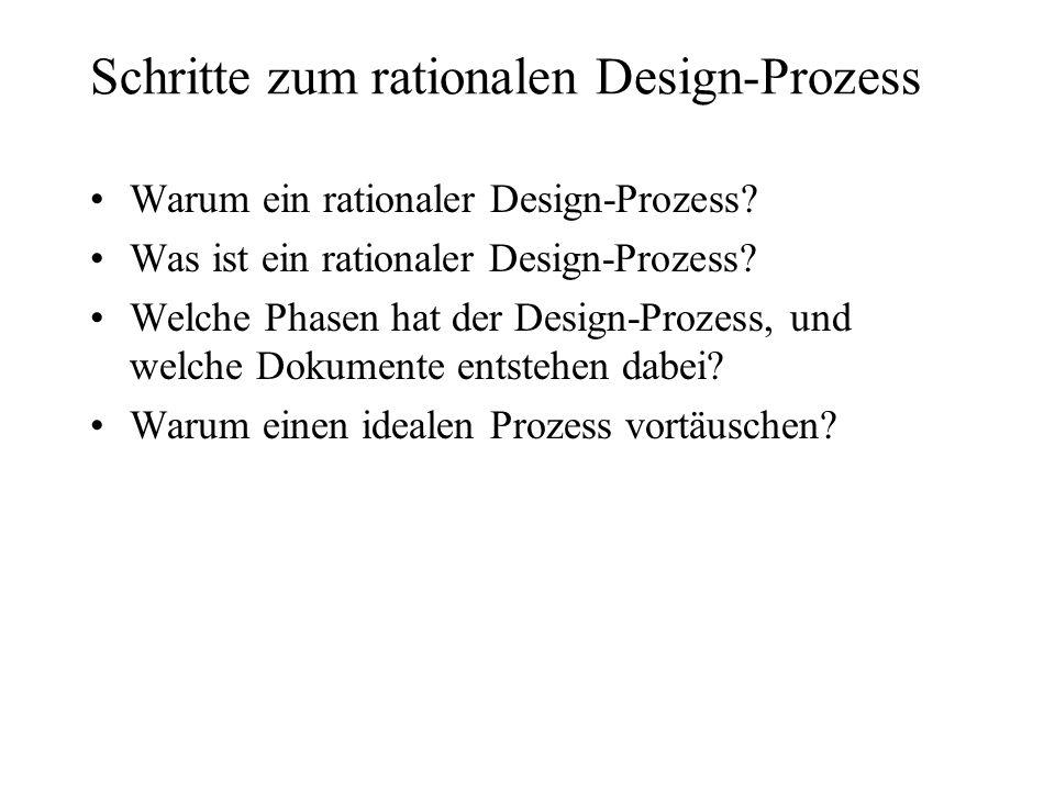 Schritte zum rationalen Design-Prozess