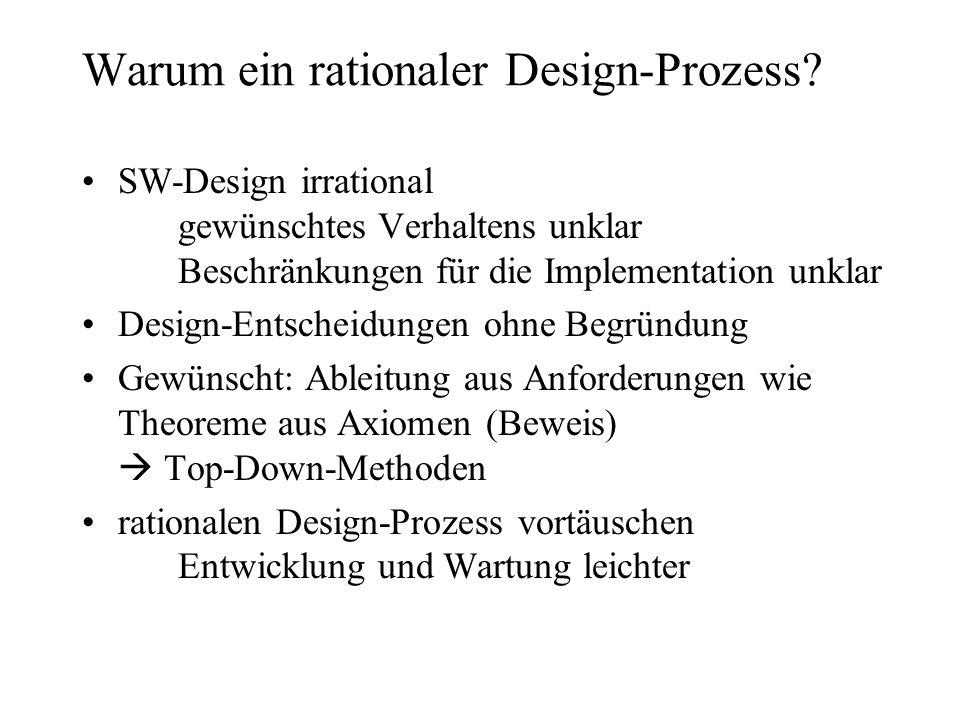 Warum ein rationaler Design-Prozess