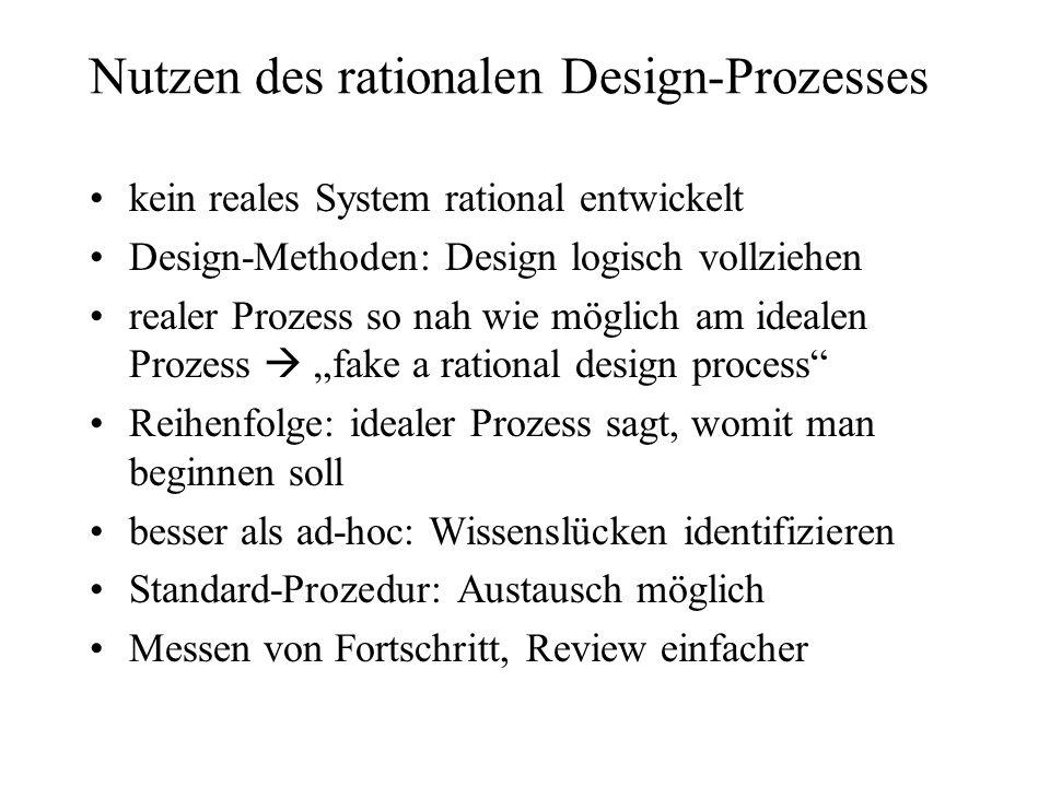 Nutzen des rationalen Design-Prozesses