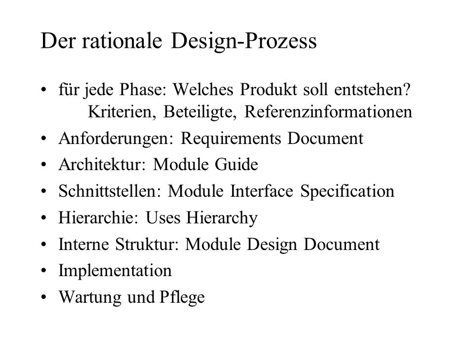 Der rationale Design-Prozess
