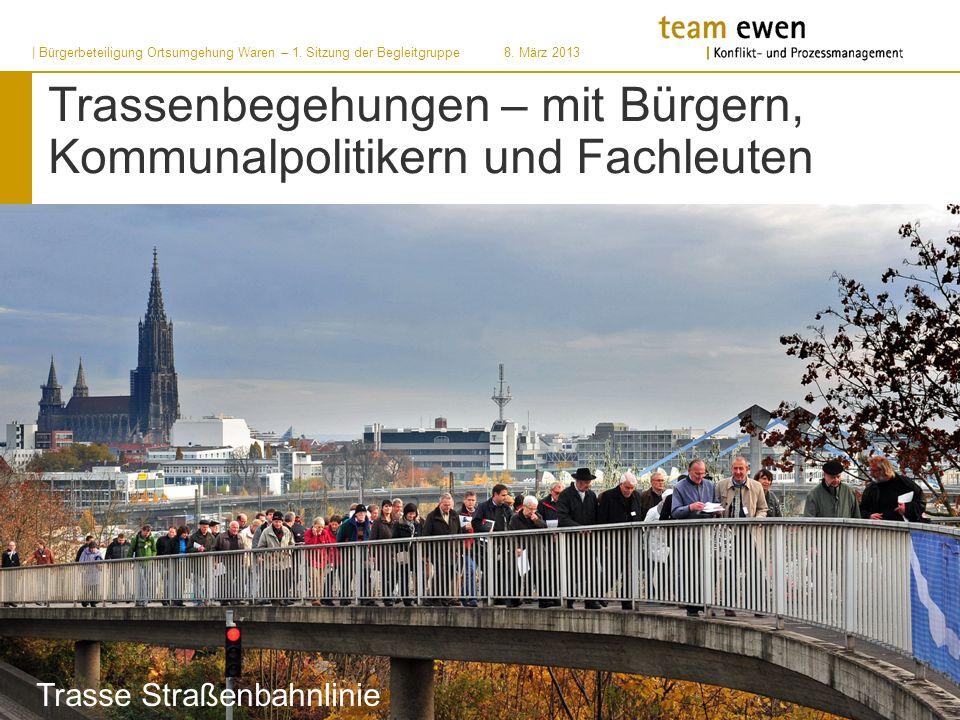 Trassenbegehungen – mit Bürgern, Kommunalpolitikern und Fachleuten