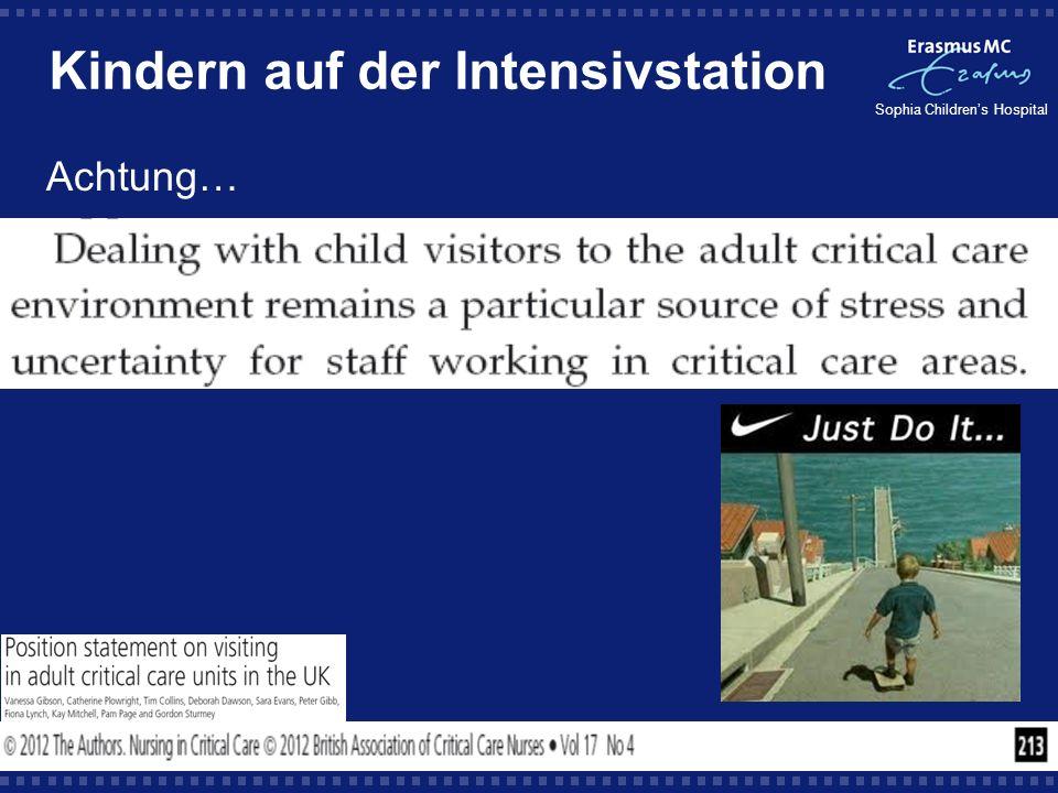 Kindern auf der Intensivstation