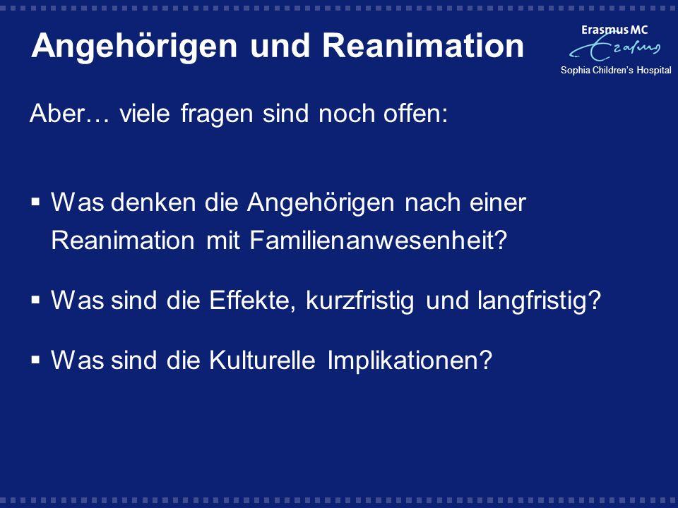 Angehörigen und Reanimation