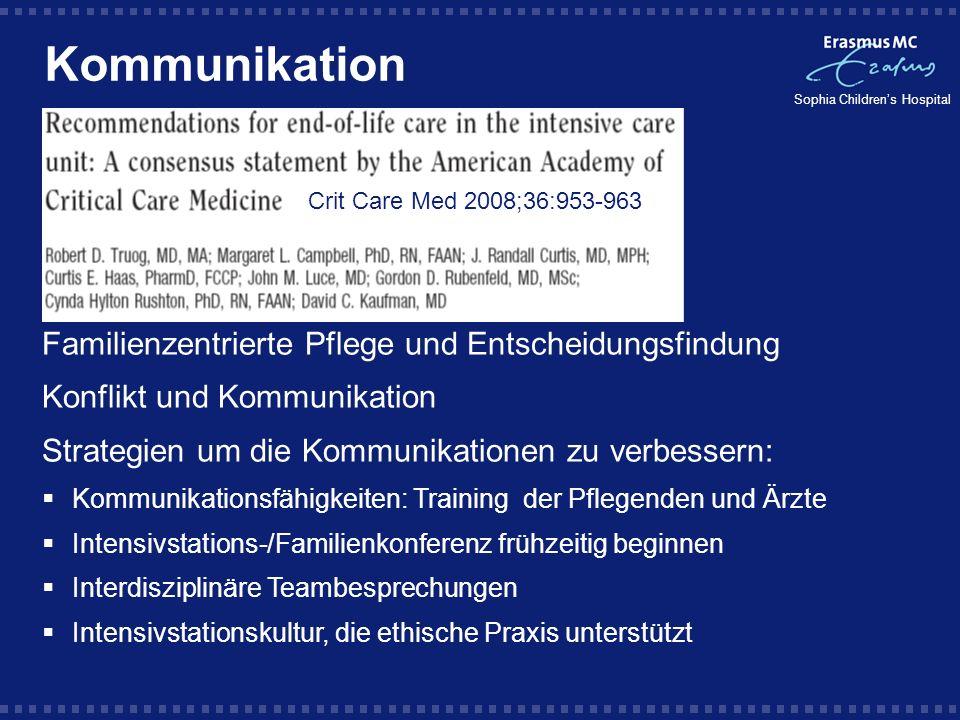 Kommunikation Familienzentrierte Pflege und Entscheidungsfindung
