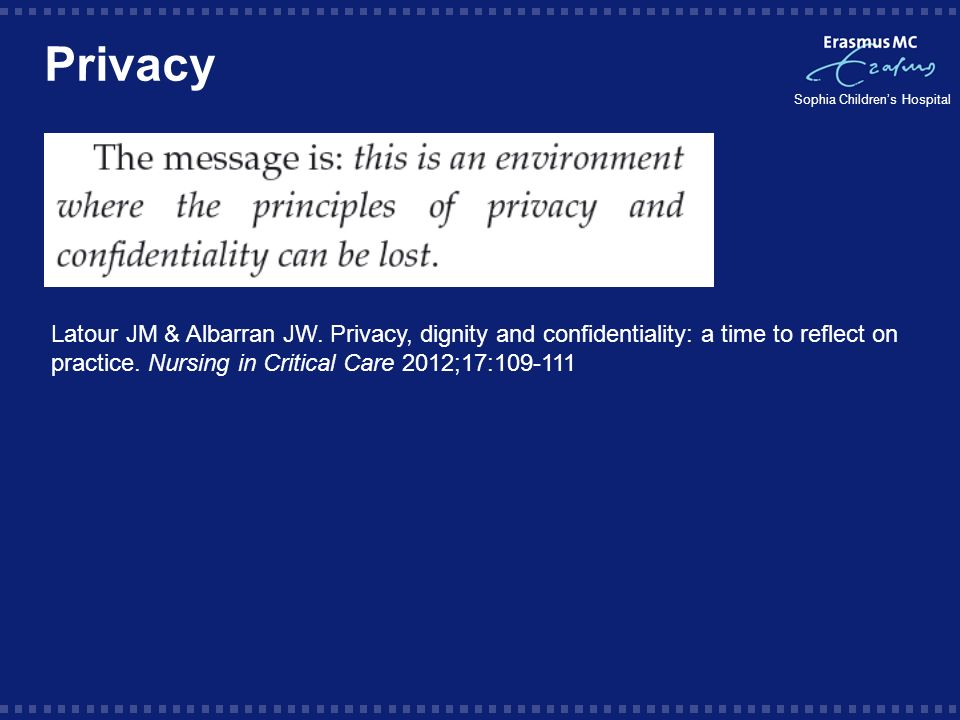 Privacy Latour JM & Albarran JW.