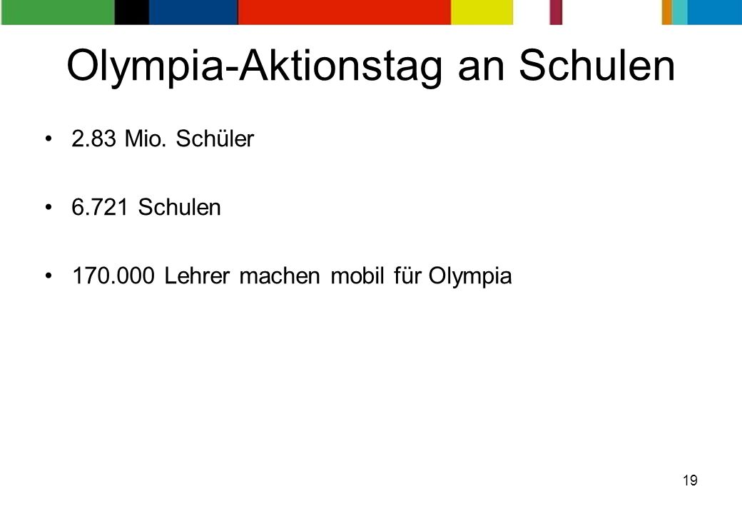 Olympia-Aktionstag an Schulen