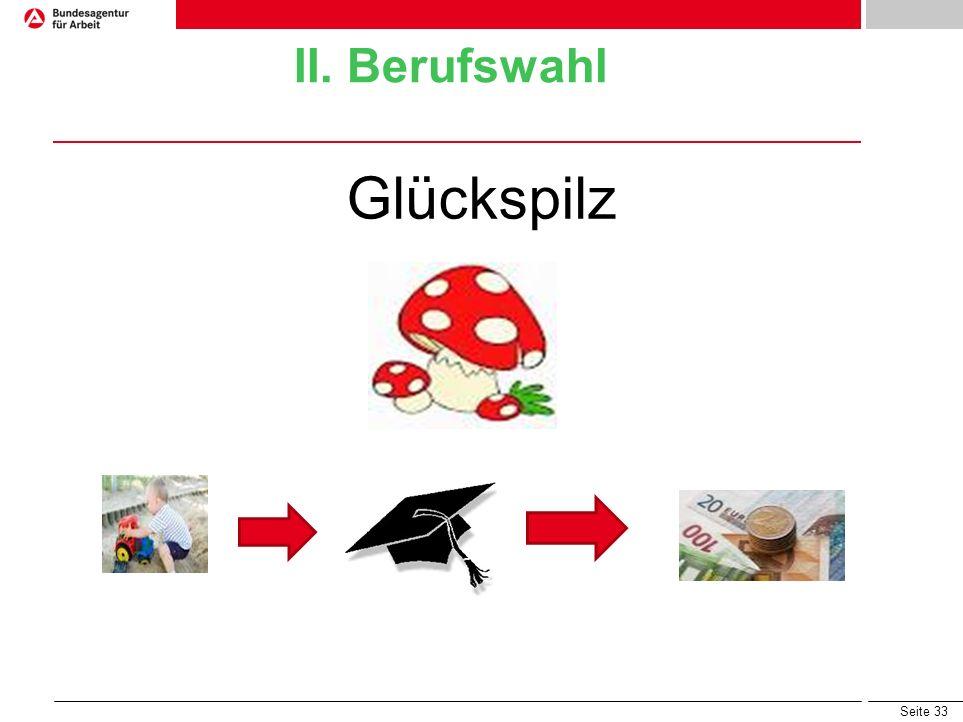 Glückspilz II. Berufswahl