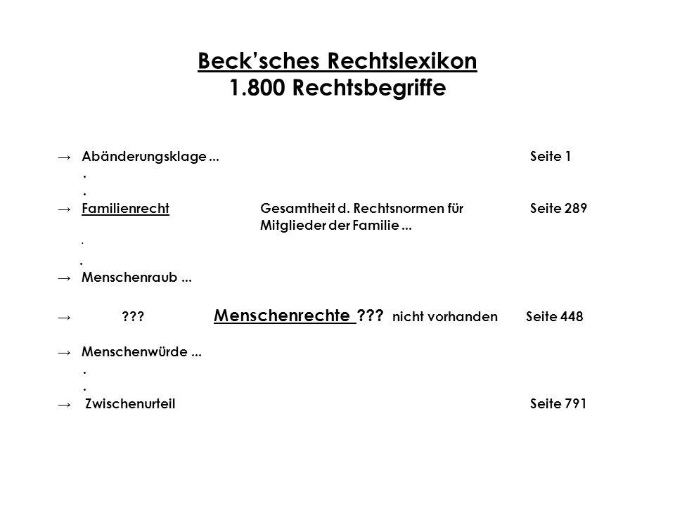 Beck'sches Rechtslexikon 1.800 Rechtsbegriffe