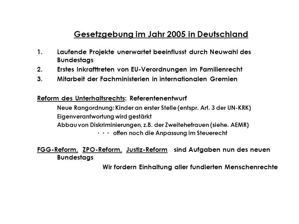 Gesetzgebung im Jahr 2005 in Deutschland