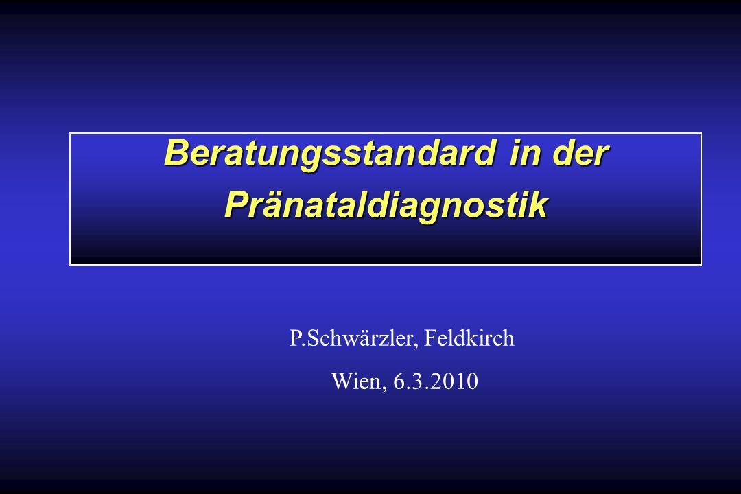 Beratungsstandard in der Pränataldiagnostik