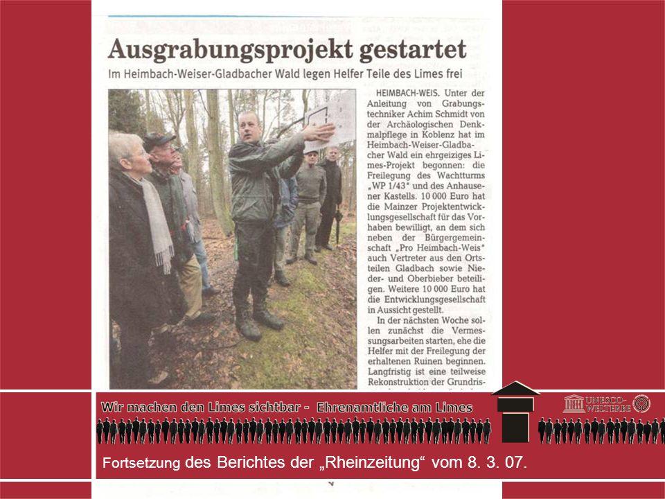 """Fortsetzung des Berichtes der """"Rheinzeitung vom 8. 3. 07."""
