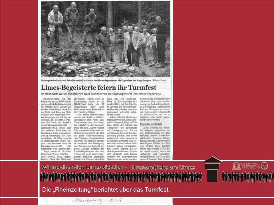 """Die """"Rheinzeitung berichtet über das Turmfest."""