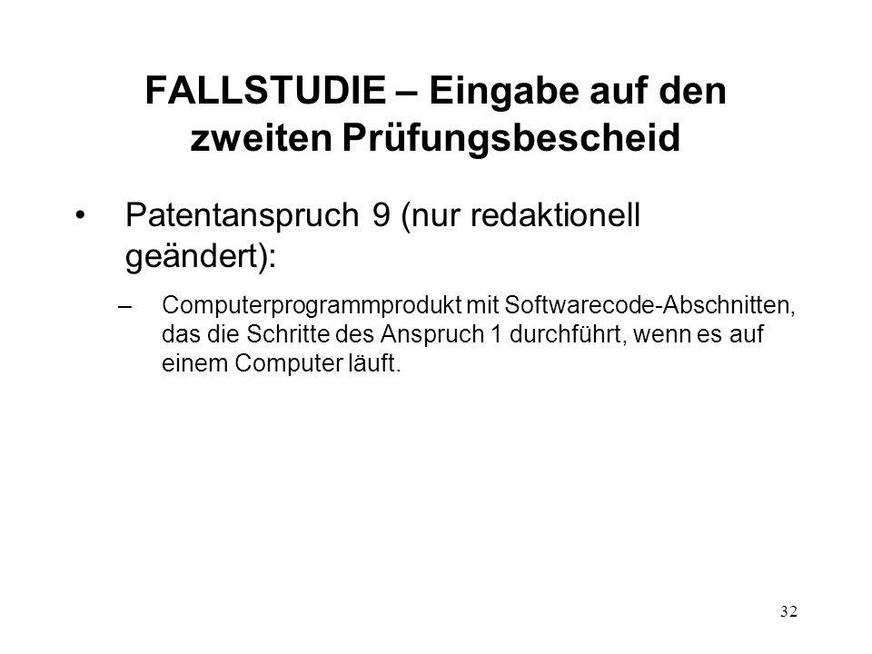 FALLSTUDIE – Eingabe auf den zweiten Prüfungsbescheid