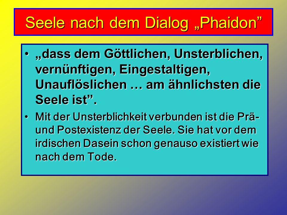 "Seele nach dem Dialog ""Phaidon"