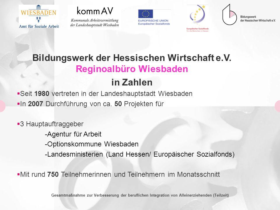 Bildungswerk der Hessischen Wirtschaft e.V. Reginoalbüro Wiesbaden