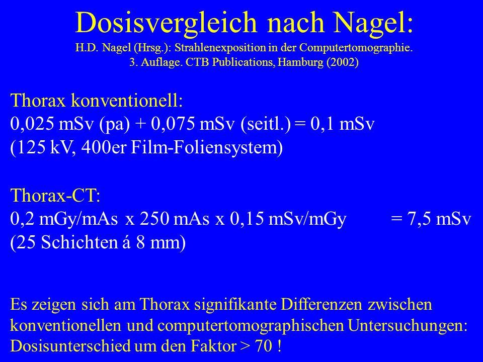Dosisvergleiche nach Bernhard 1995: