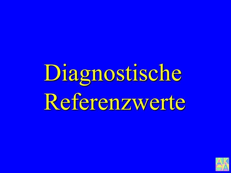 Diagnostische Referenzwerte 26 33