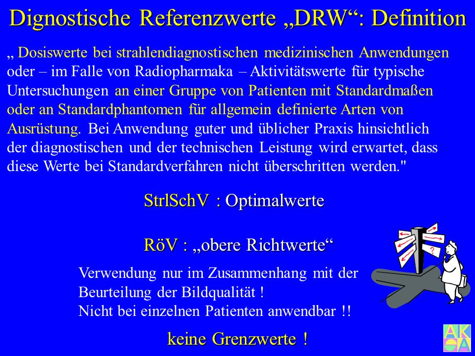 "Dignostische Referenzwerte ""DRW : Definition"