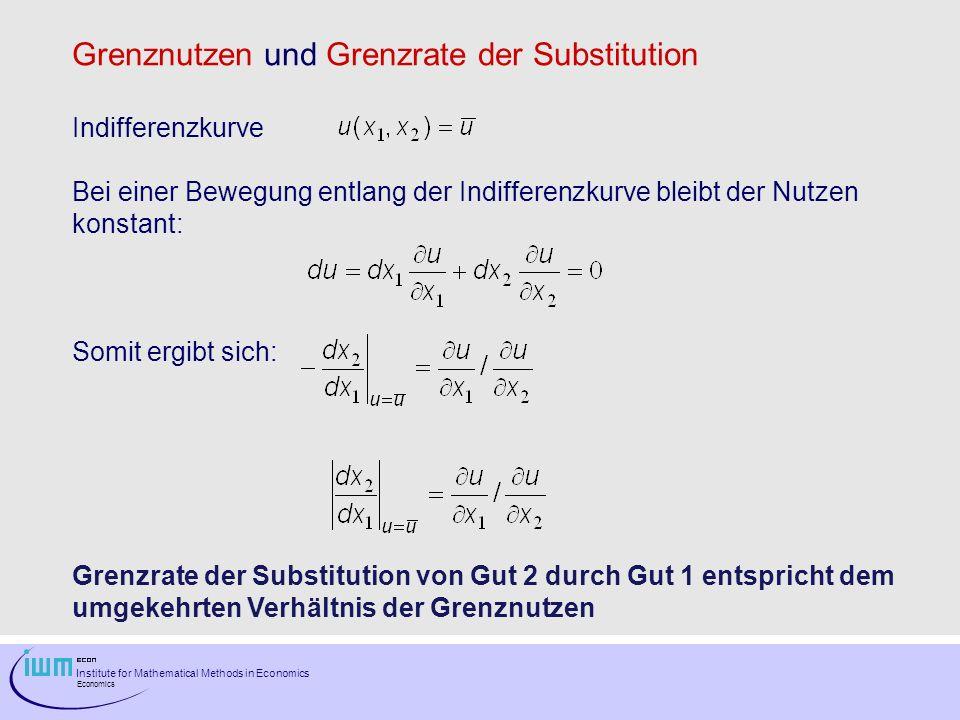 Grenznutzen und Grenzrate der Substitution