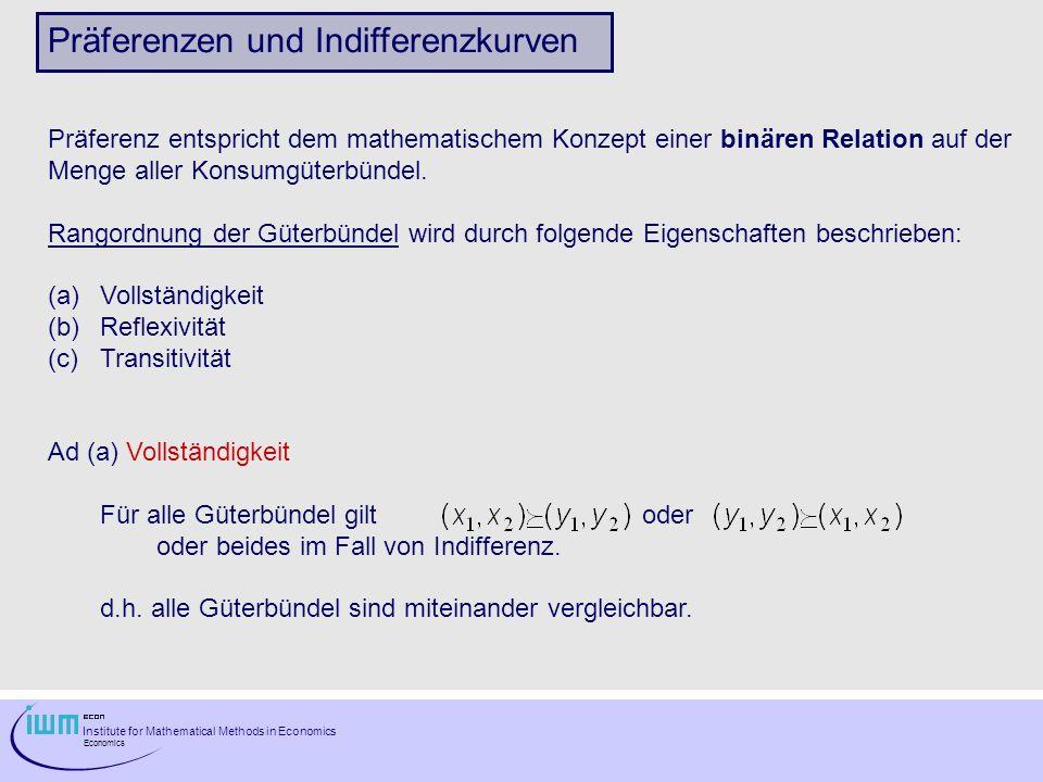 Präferenzen und Indifferenzkurven