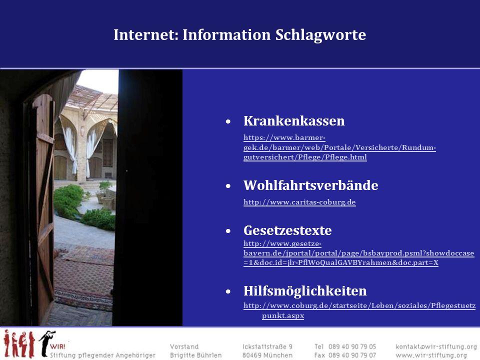 Internet: Information Schlagworte