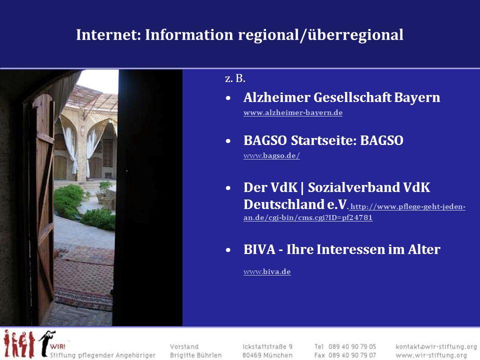 Internet: Information regional/überregional