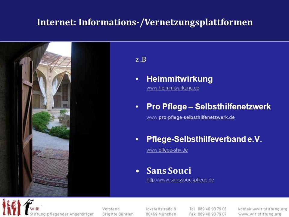 Internet: Vernetzung Fachforen & Vernetzungsplattformen