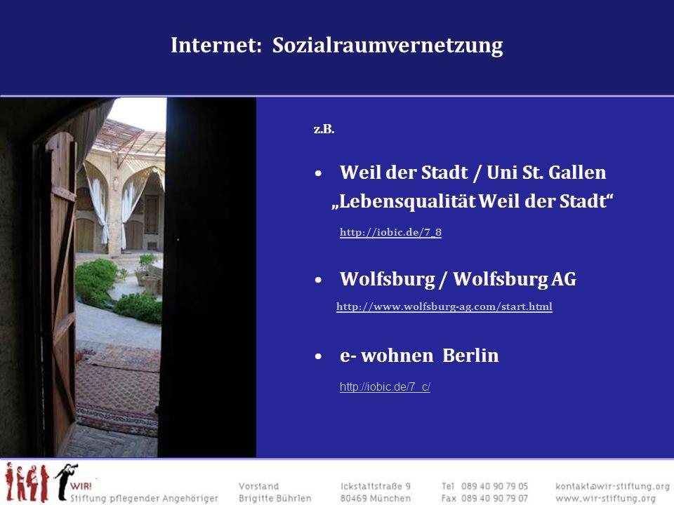Internet: Sozialraumvernetzung