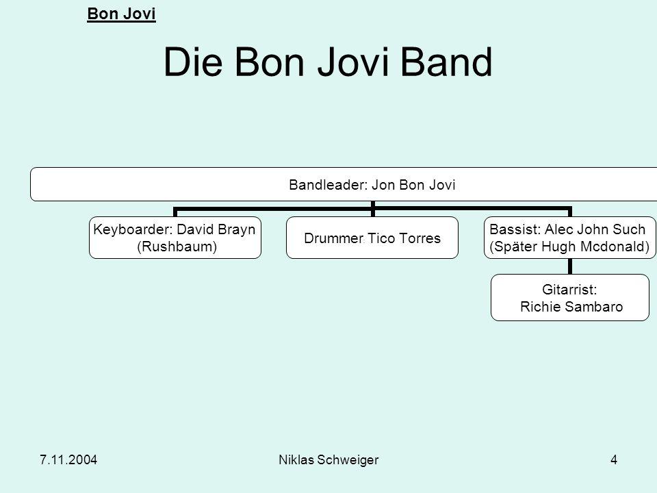 Die Bon Jovi Band 7.11.2004 Niklas Schweiger