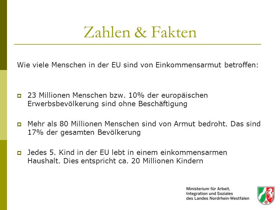 Zahlen & Fakten Wie viele Menschen in der EU sind von Einkommensarmut betroffen: