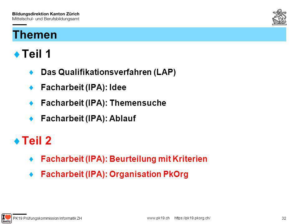 Themen Teil 1 Teil 2 Das Qualifikationsverfahren (LAP)