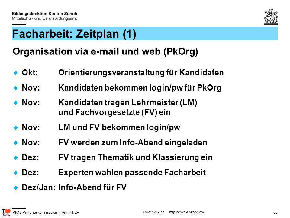 Facharbeit: Zeitplan (1)