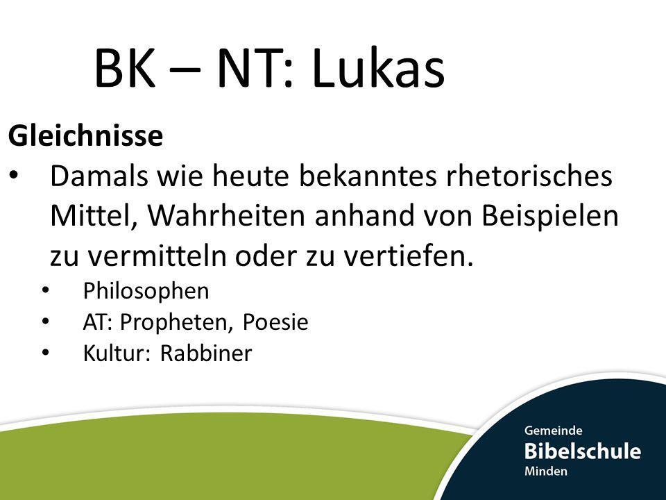 BK – NT: Lukas Gleichnisse