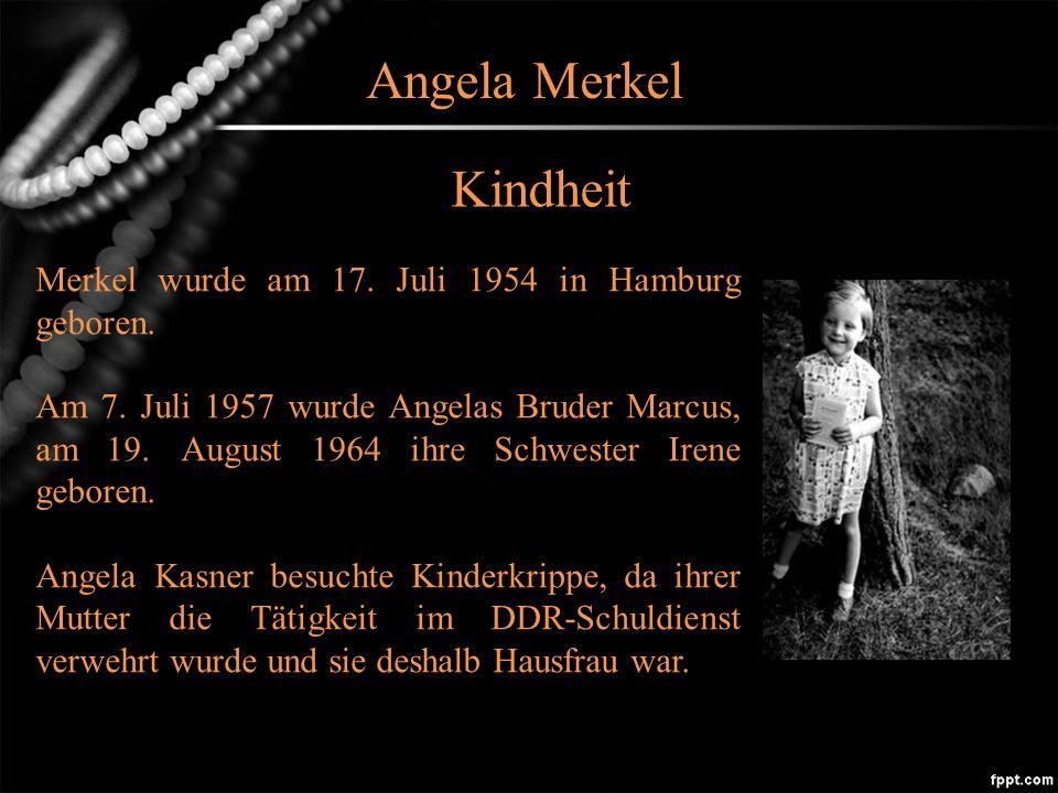 Angela Merkel Kindheit