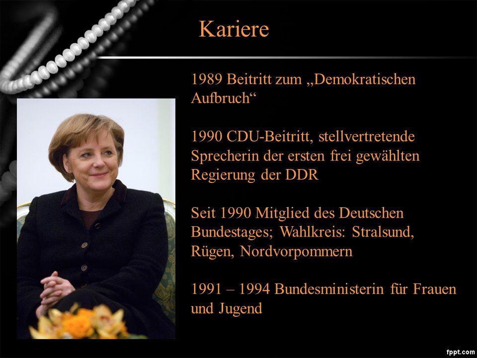 """Kariere 1989 Beitritt zum """"Demokratischen Aufbruch"""