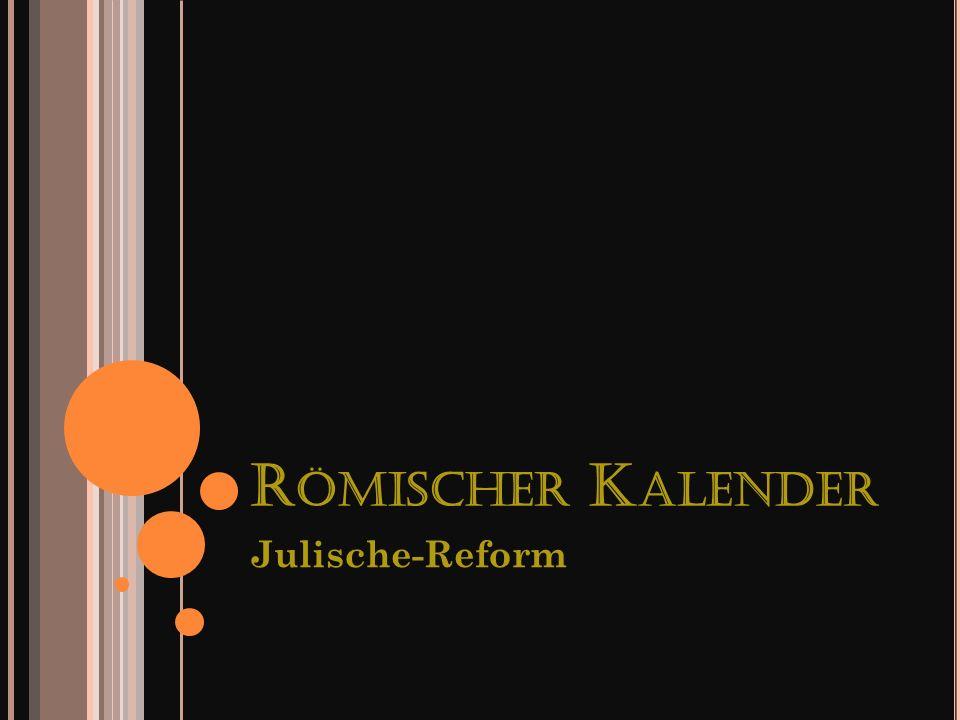 Römischer Kalender Julische-Reform