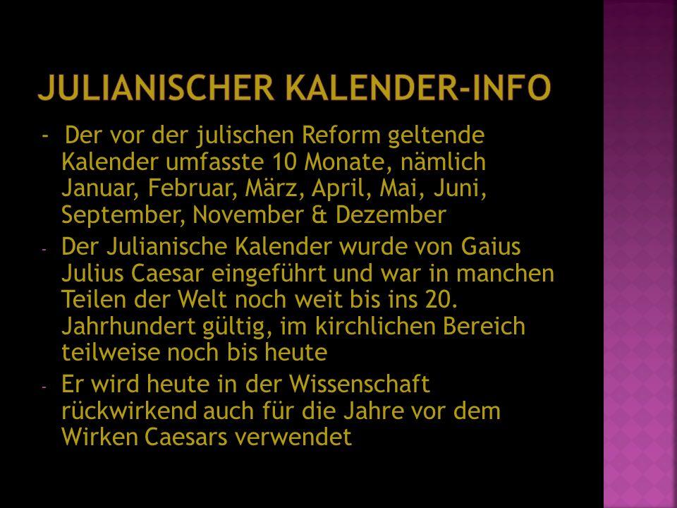 Julianischer Kalender-Info