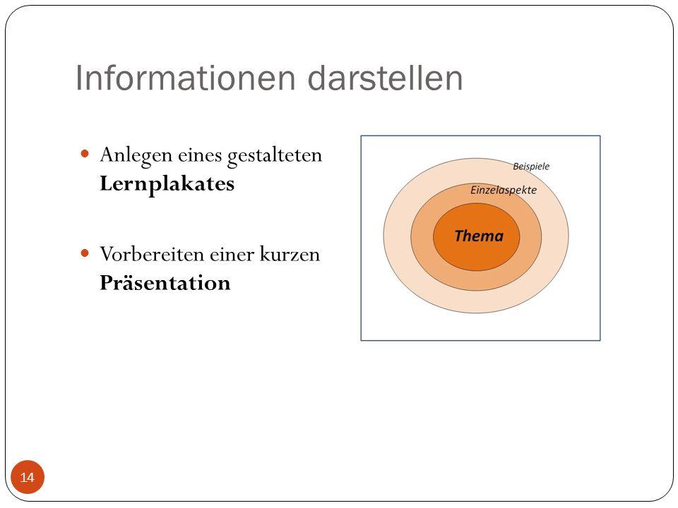Informationen darstellen