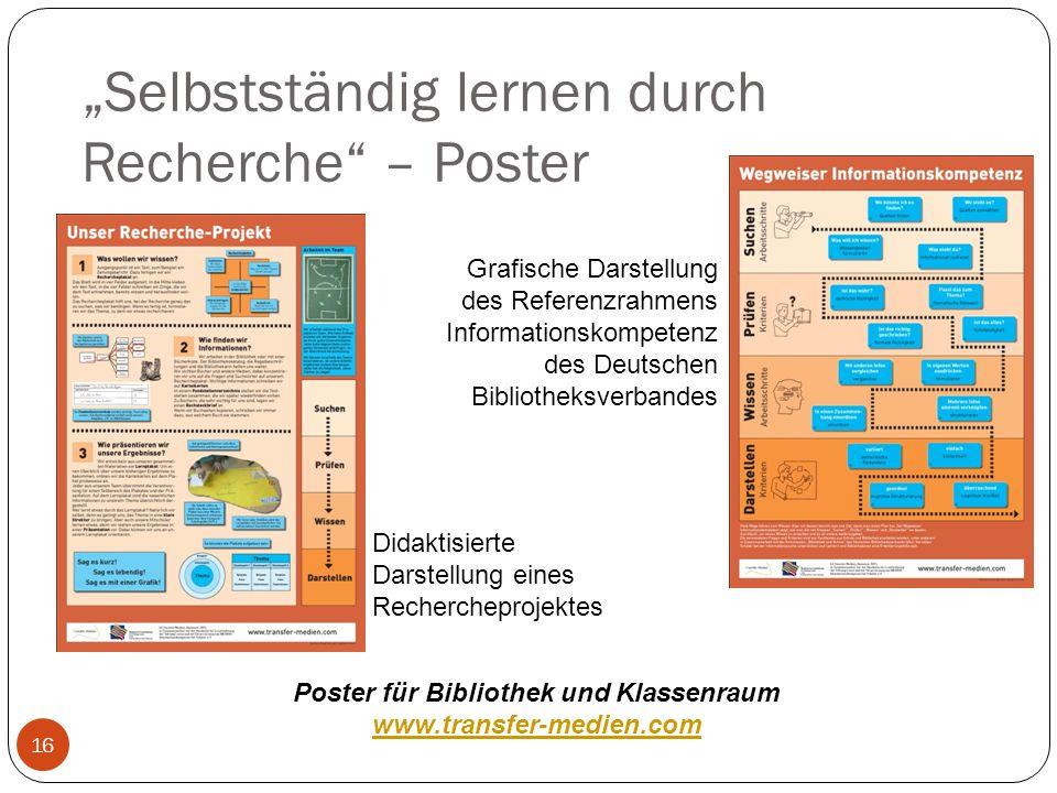 """""""Selbstständig lernen durch Recherche – Poster"""