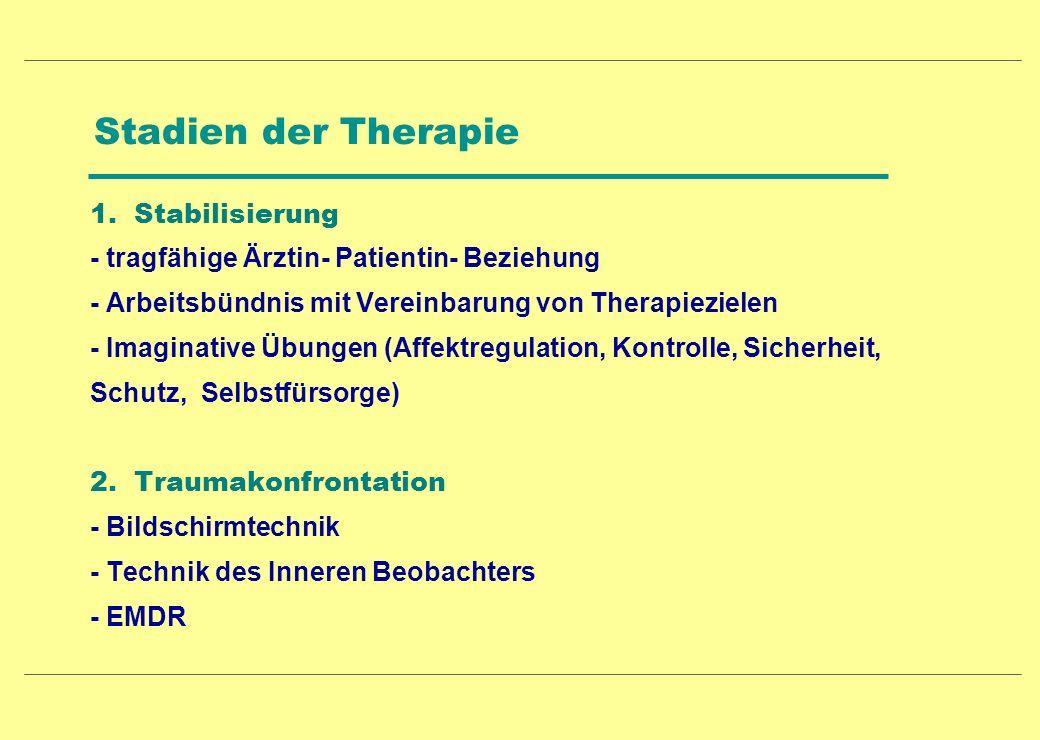 Stadien der Therapie 1. Stabilisierung