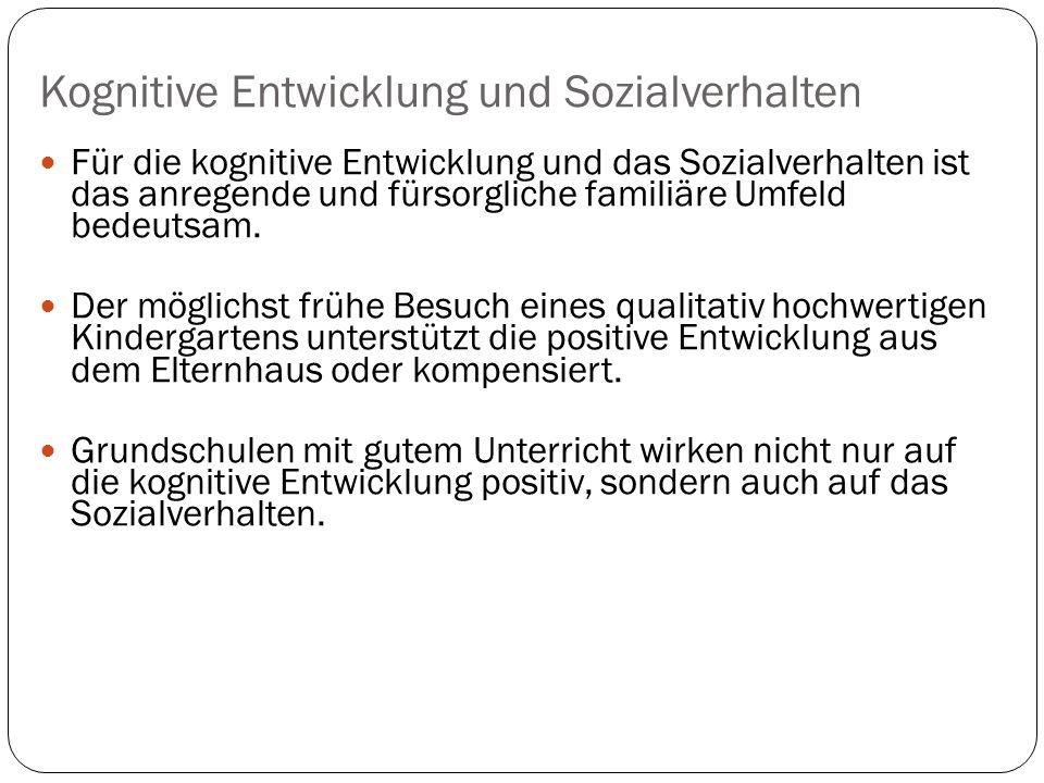 Kognitive Entwicklung und Sozialverhalten