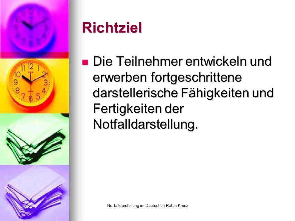 Notfalldarstellung im Deutschen Roten Kreuz